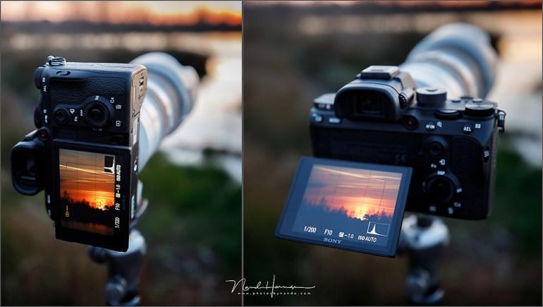 Het kantelbare scherm kan makkelijk zijn, tenzij je in portrait stand gaat fotograferen.