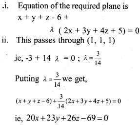 Plus Two Maths Chapter Wise Questions and Answers Chapter 11 Three Dimensional Geometry 1