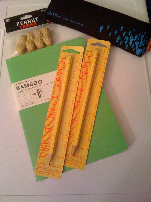 WritersBlok Bamboo and 3 mile pencil