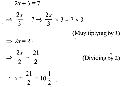 Selina Concise Mathematics Class 6 ICSE Solutions - Simple (Linear) Equations (Including Word Problems) - r3