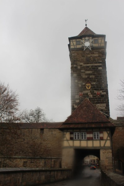 Tower in the city walls in Rothenburg ob der Tauber