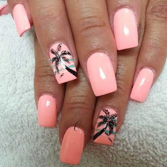 palm tree nail 2019