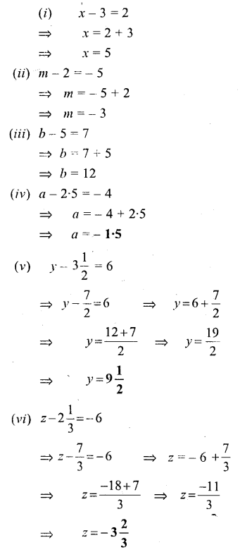 Selina Concise Mathematics Class 6 ICSE Solutions - Simple (Linear) Equations (Including Word Problems) - a2s