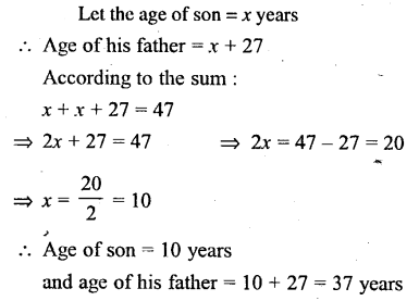 Selina Concise Mathematics Class 6 ICSE Solutions - Simple (Linear) Equations (Including Word Problems) - d7