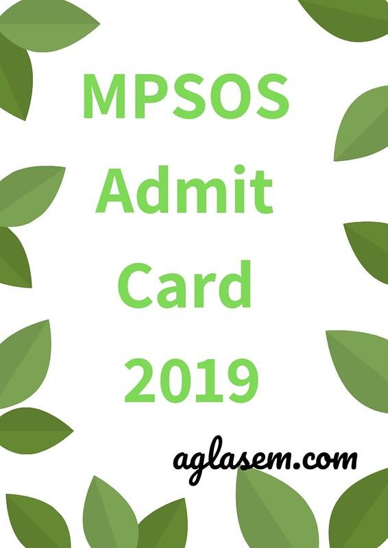 MPSOS Admit Card 2019