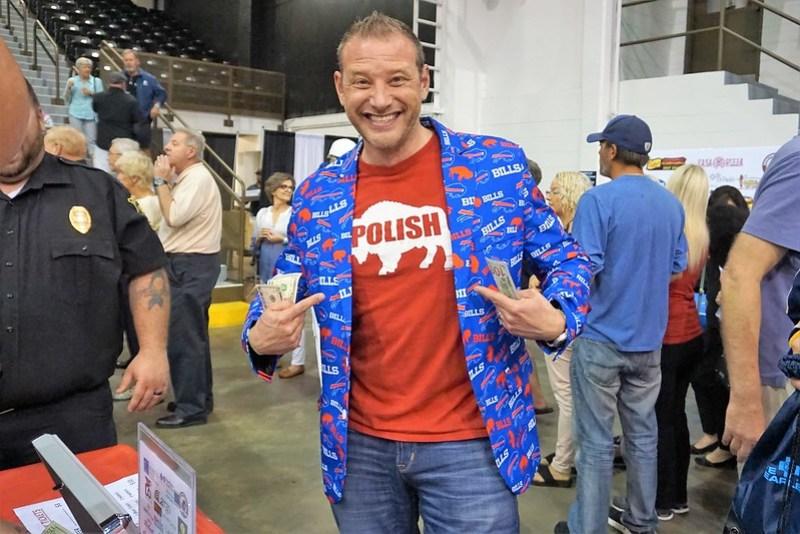 Proud Buffalonian with Bills Jacket - -3rd Annual Everything Buffalo Party in Sarasota, Fla., Feb. 27, 2019