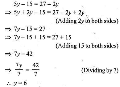 Selina Concise Mathematics Class 6 ICSE Solutions - Simple (Linear) Equations (Including Word Problems) - r32
