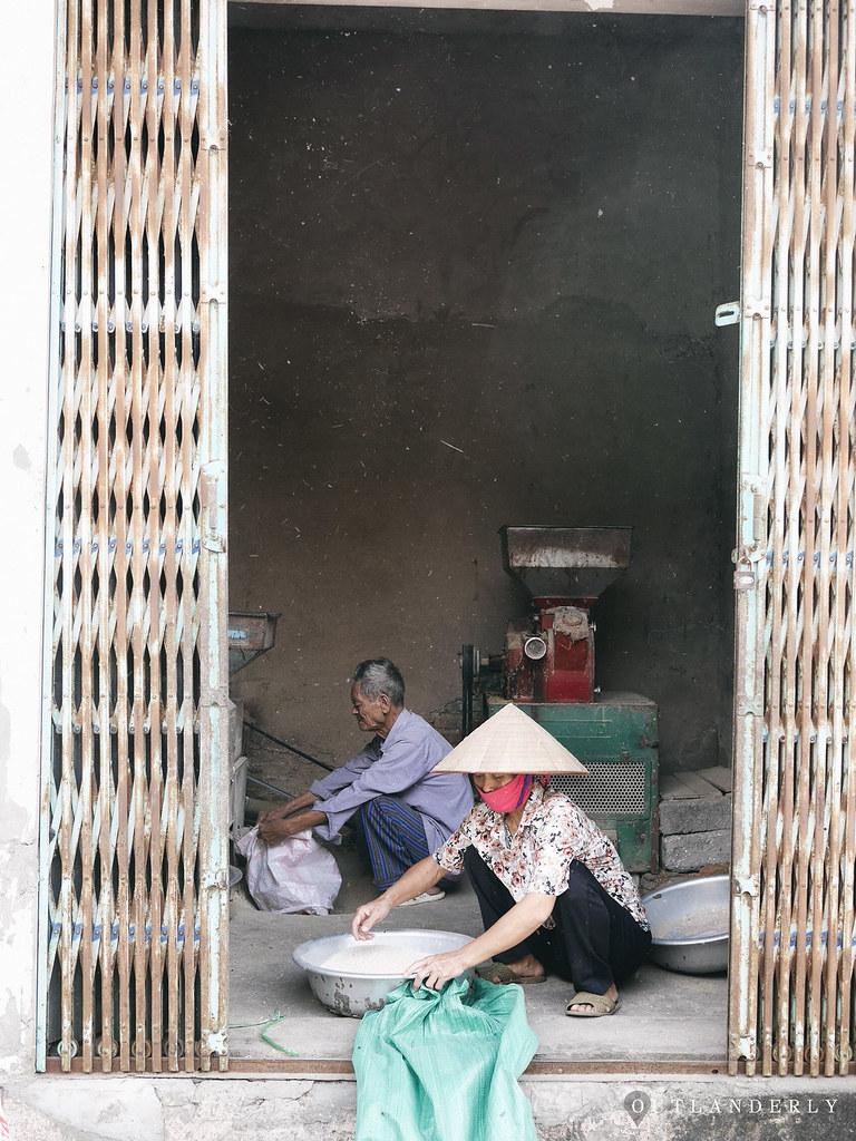Vietnamese woman working