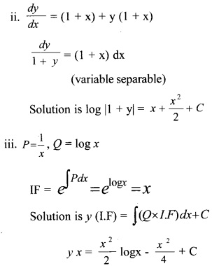 Plus Two Maths Chapter Wise Questions and Answers Chapter 9 Differential Equations 29