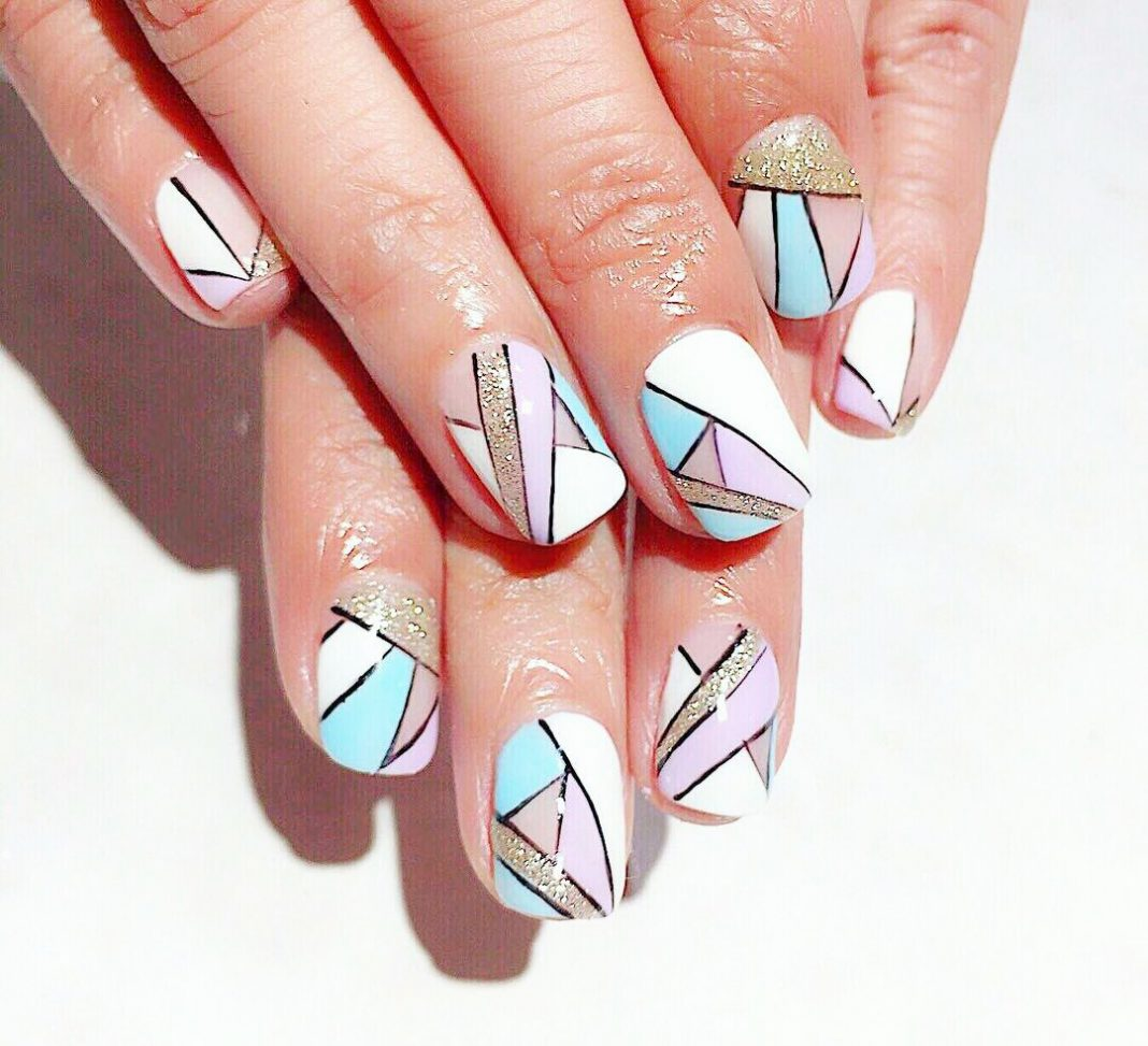 Diy Geometric Nail Art Design: New 18+ Geometric Nail Art Design With Tutorial