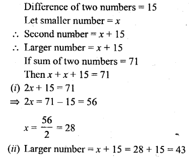 Selina Concise Mathematics Class 6 ICSE Solutions - Simple (Linear) Equations (Including Word Problems) - 8
