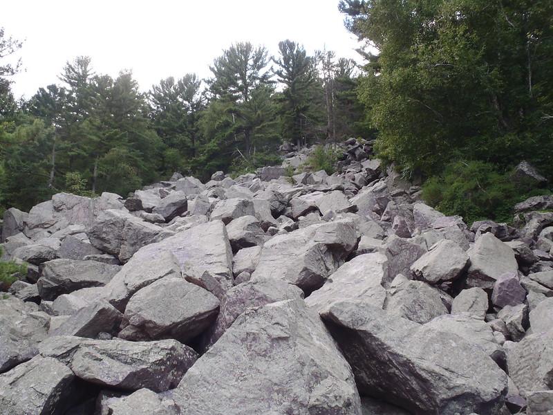 Talus slope of Baraboo quartzite
