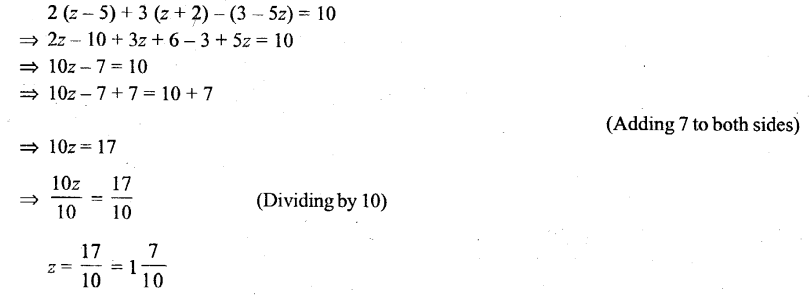 Selina Concise Mathematics Class 6 ICSE Solutions - Simple (Linear) Equations (Including Word Problems) - r36