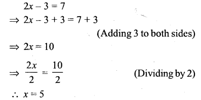 Selina Concise Mathematics Class 6 ICSE Solutions - Simple (Linear) Equations (Including Word Problems) - r2