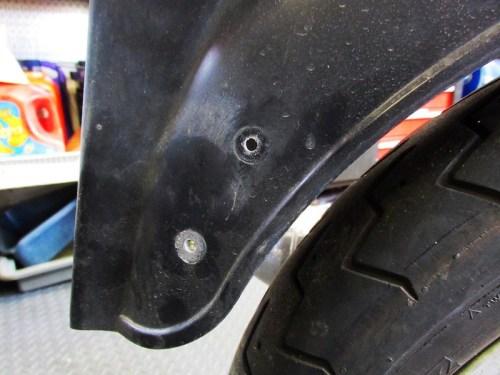 Rear Mud Flap Holes in Side of Fender
