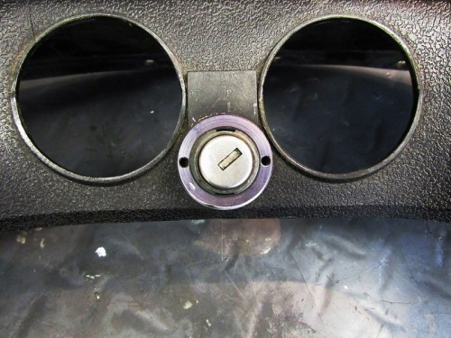 Ignition Switch & Switch Position Tab (White Markings Rubbed Off)