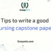 Tips to write a good nursing capstone paper