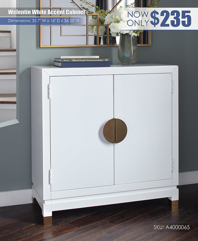 Weletin White Accent Cabinet_A4000065