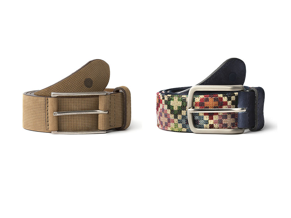 Cinturones hechos en España en piel de curtición vegetal el tauce y el anaga de blue hole