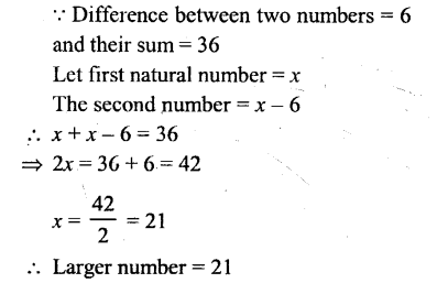 Selina Concise Mathematics Class 6 ICSE Solutions - Simple (Linear) Equations (Including Word Problems) - 7