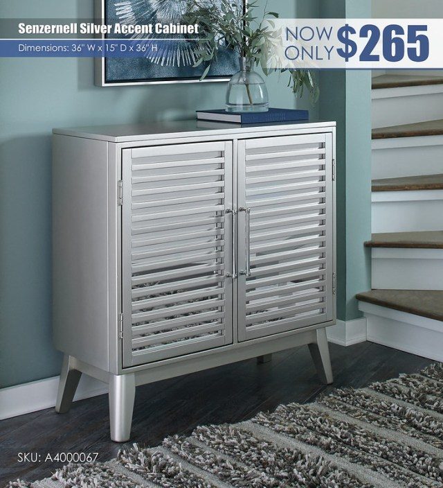 Senzernell Silver Accent Cabinet_A4000067