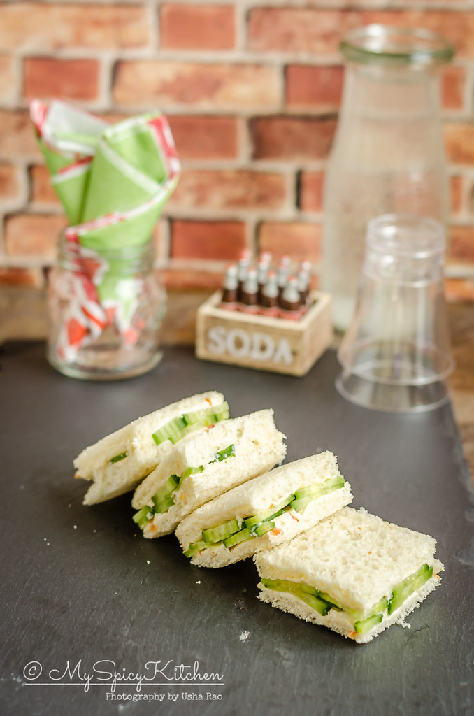 3 ingredient mini cucumber sandwiches are a kids friendly tea time snack and great for parties as well