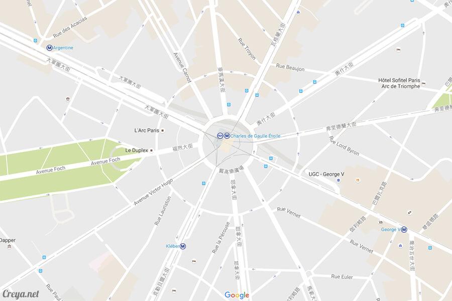 2016.8.28   看我的歐行腿  法國巴黎凱旋門、香榭麗舍間的歷史之道 19