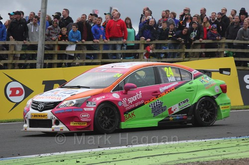 Jake Hill in BTCC race 2 during the Knockhill Weekend 2016