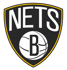 Brooklyn Nets Logo with Gold, No.2