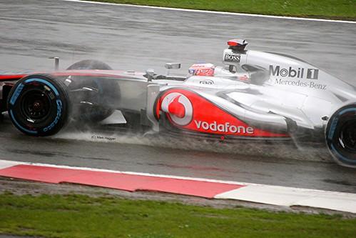 Jenson Button's McLaren at Silverstone