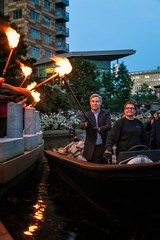 Senator Whitehouse at WaterFire - Gaspee Day - Photo by James Turner