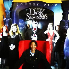 Myself at the poster of Dark Shadows