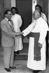 Governor Flores with Catholic Clergy, 1960