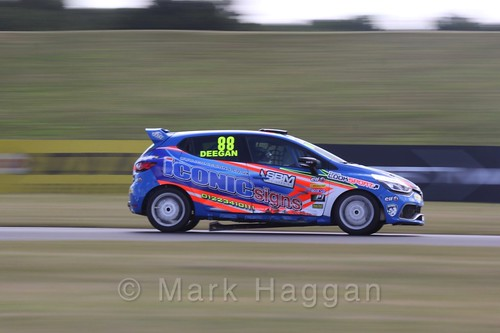 Shayne Deegan in the Clio Cup during the BTCC 2016 Weekend at Snetterton
