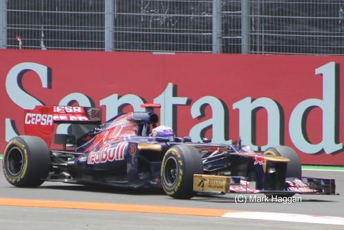 Daniel Ricciardo in his Toro Rosso F1 car at the 2012 European Grand Prix at Valencia