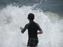 Boy and Wave Magic