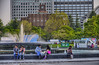 Photo:噴水、日比谷公会堂、富国生命ビル By