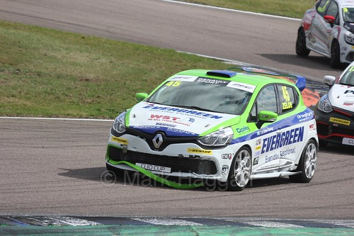 Dan Zelos in the Clio Cup at Rockingham, August 2016