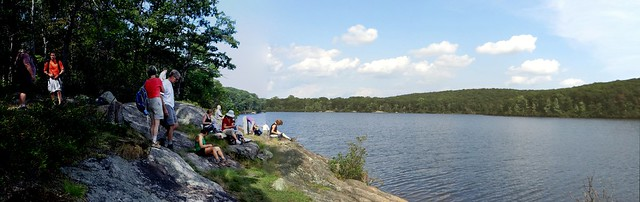 Lunch at Breakneck Pond