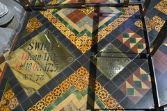 Jonathan Swift's grave in St. Patrick's Cathedral