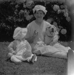 Baby, Grandma, and a Dog