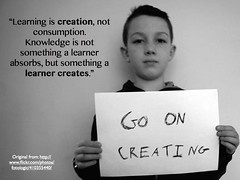 Go on creating