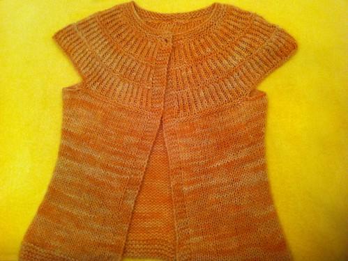 wool yellow knit yarn vest rib sleeveless stockinette (Photo: pipesdreams on Flickr)