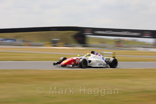 Alex Quinn in British Formula 4 during the BTCC 2016 Weekend at Snetterton