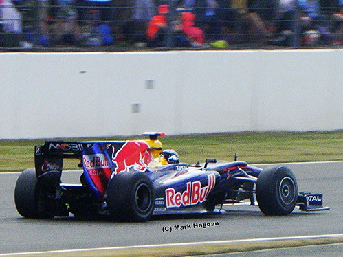 Sebastian Vettel in his Red Bull Racing F1 car at the 2010 British Grand Prix