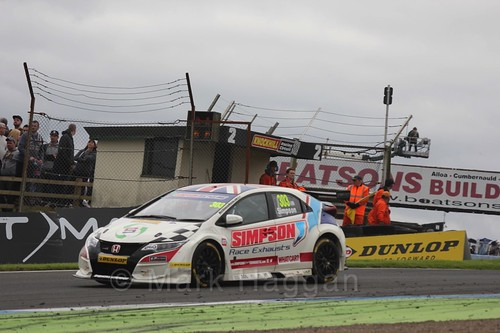 Matt Simpson in BTCC race 2 during the Knockhill Weekend 2016