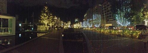 Midtown Christmas Panorama(Tokyo Midtown, Japan)