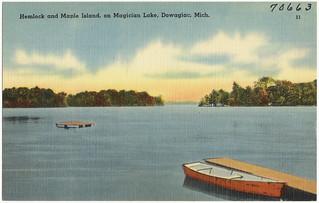 Hemlock and Maple Island, on Magician Lake, Do...