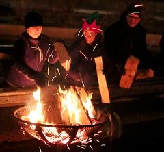 Santa's elves keep the fires burning bright.