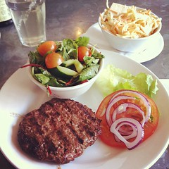 Skinny burger and cole slaw for #lunch #meal #...